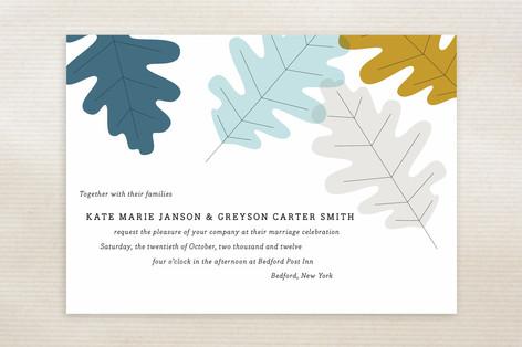 Autumn Oak Wedding Invitations