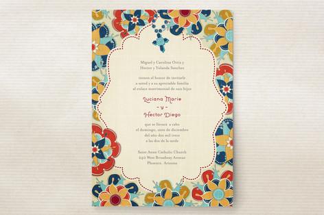 Las Flores Bonitas Wedding Invitations