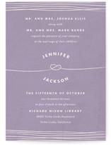 Simple Knot Wedding Invitations