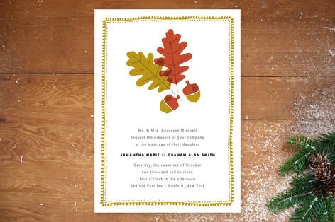 One Fine Autumn Day Wedding Invitations