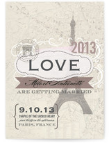 J'adore Paris Wedding Invitations