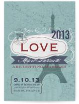 J'adore Paris Wedding Invitations