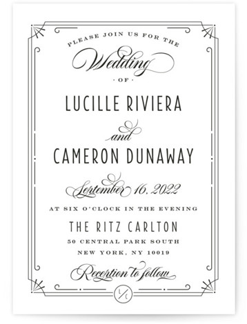 Nouvelle Ere Wedding Invitations