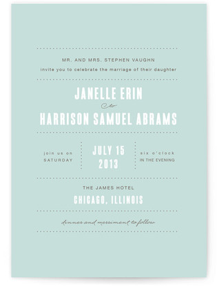 Sweet Chic Wedding Invitations