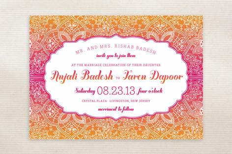 Mod Mehndi Wedding Invitations
