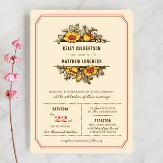 Harvest Floral Wedding Invitations