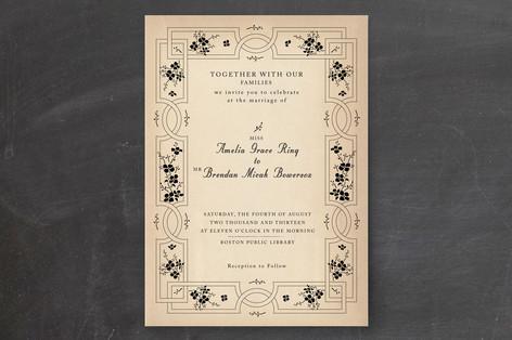 Bookworm Society Wedding Invitations