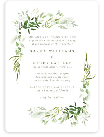 Verdure Wedding Invitations
