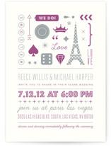 Bet on Love Wedding Invitations