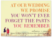 You in or What Wedding Invitations