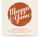Stamped Center Wedding Invitations