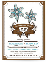 Pinwheel Stars Wedding Invitations