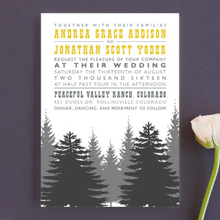 Enchanted Forest Wedding Invitations