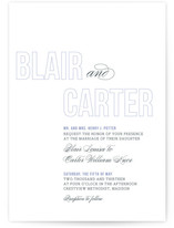 Outlined Wedding Invitations