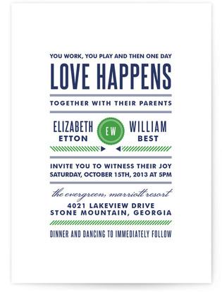 Modern Prep Wedding Invitations