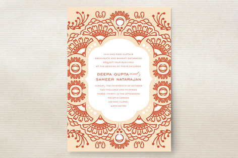Indian Blessings Wedding Invitations