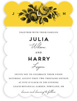 Bouquet Monogram Wedding Invitations