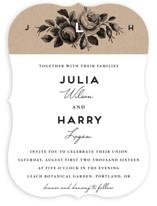 Bouquet Monogram Wedding Invitations