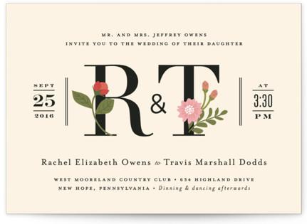 Cottage Rose Wedding Invitations