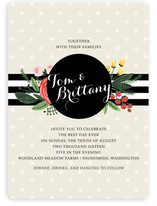 Floral Bots & Polka Dots Wedding Invitations