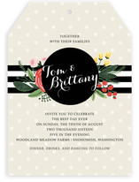 Floral Bots & Polka Dots Wedding Invitations