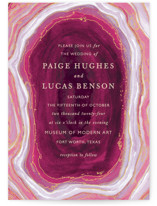 Gilt Agate Wedding Invitations