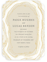 Gilt Agate Wedding Invitations