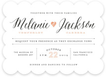 Heartbeat Wedding Invitations