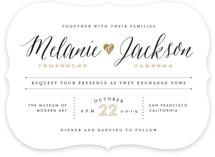 Heartbeat Wedding Invitations