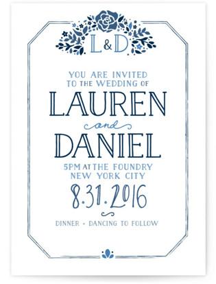 Heirloom Frame Wedding Invitations