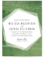 Hex Wash Wedding Invitations
