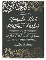 Hidden Branches Wedding Invitations