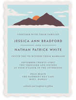 Holiday Island Wedding Invitations