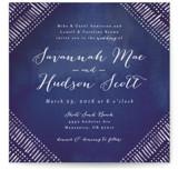 Indigo Print Wedding Invitations