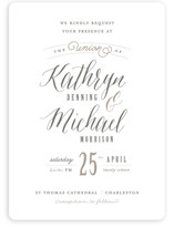 Kindly Request Wedding Invitations