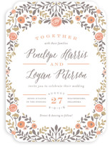 Lover's Floral Frame Wedding Invitations