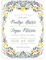 Lover's Floral Frame Wedding Invitations