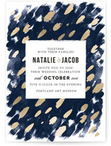 Midnight And Gold Wedding Invitations