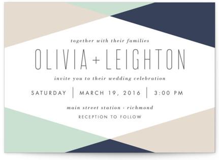 Minimal Mod Wedding Invitations