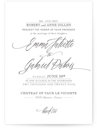 Opulence Wedding Invitations