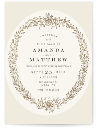 Prettiest Wreath Wedding Invitations