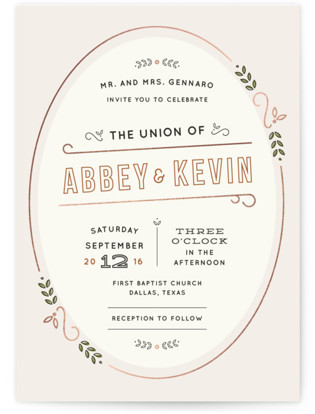 The Union Wedding Invitations