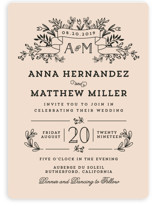 Wedding Bouquet Wedding Invitations