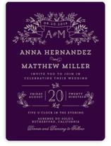 Wedding Bouquet Wedding Invitations