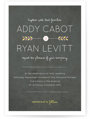 Shooting Arrow Wedding Invitations