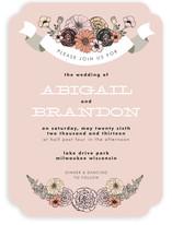 Antique Bouquet Wedding Invitations