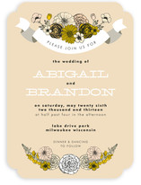 Antique Bouquet Wedding Invitations