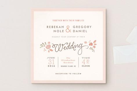 Pink Blossoms Wedding Invitations