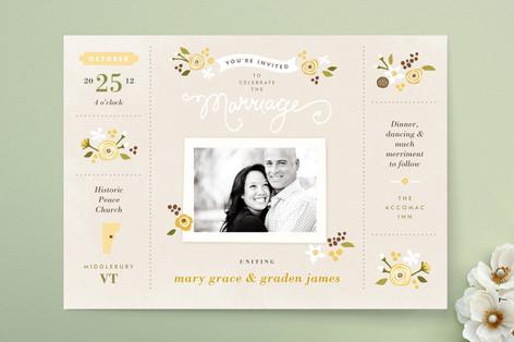 Sense and Sensibility Wedding Invitations
