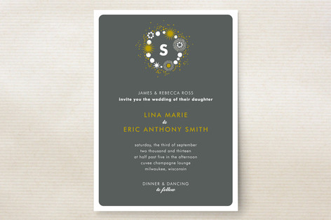 Sparkle Glitz Wedding Invitations